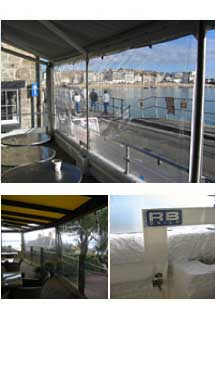 RB Sails can produce awnings for restaurants or any other setting
