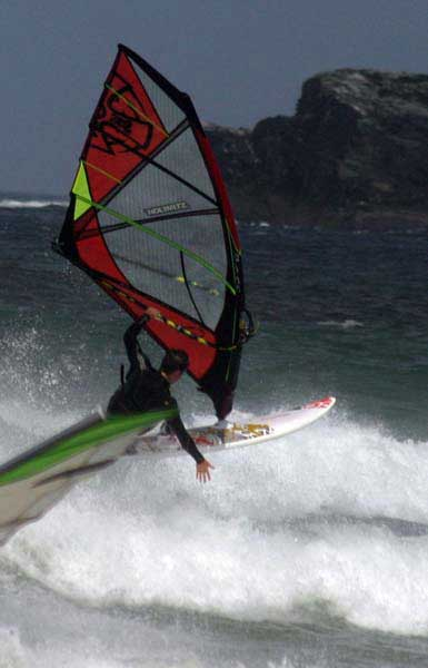 The Ross Chuckster custom windsurfing sails are available in a wide range of radical colours