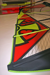 Ross Windsurf use bold graphics and great colours to make our wave sails stand out