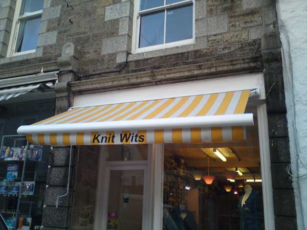 RB Sails can manufacture and install shop awnings in Cornwall and the UK