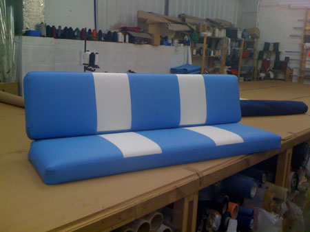 RB Sails are the experts in caravan and campervan cushions