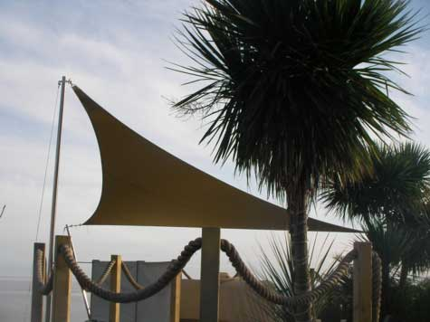 RB Sails make awnings for restaurants or any other setting