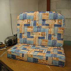 We cut foam for custom cushions and upholstery