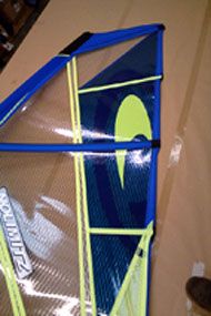 Ross Windsurf can put a personal or company logo on your sail for the ultimate custom sail