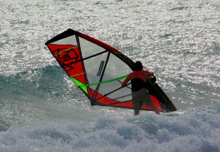 Ian Ross tests all his prototype sails extensively before they hit production