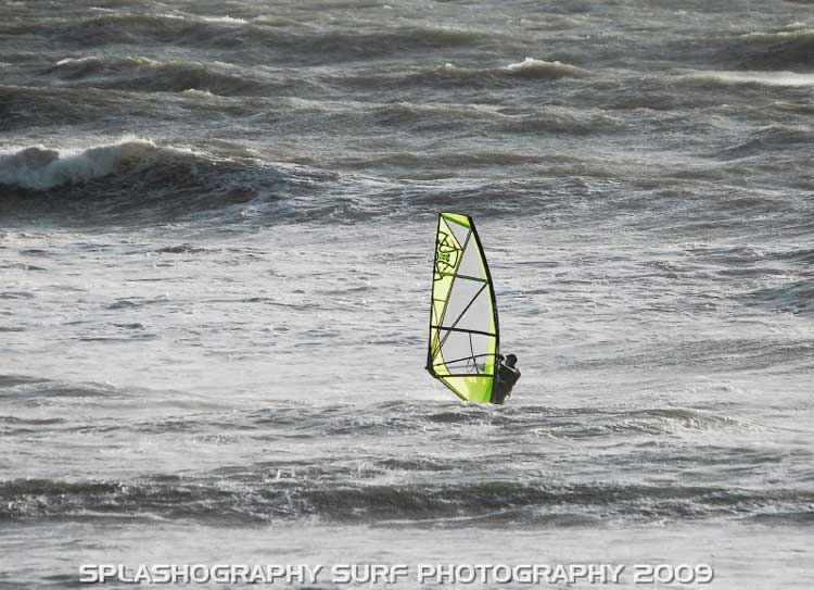 Martin France tests a prototype Ross Windsurf sail
